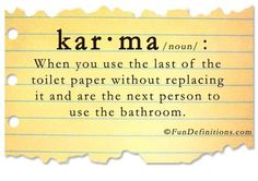 Karma / Fun Definitions