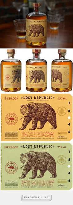 Lost Republic Bourbon - Packaging of the World - Creative Package Design Gallery - http://www.packagingoftheworld.com/2015/09/lost-republic-bourbon.html