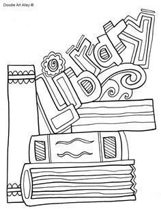 Picture More Information I Love Books Coloring Page