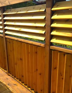 FLEX•fence creation by Jason Bubba from Sudbury, Ontario. Louvered panel fence