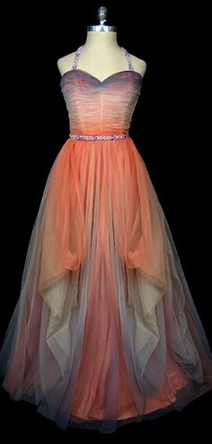 Evening Dress 1951, Made of chiffon