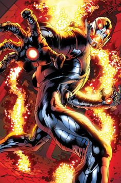 "Ultron : AKA : Crimson Cowl--POWERS : Artificial intelligence with robotic body; abilities vary with each redesign but generally include extreme durability and energy projection--Marvel Comics--Recent tittle ""Age of Ultron"" series that spins off into ""Avengers"" recent issues coinciding with The Ultron Saga"