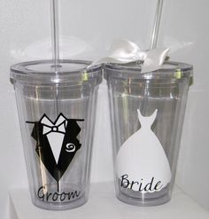 Personalized Bridesmaid Gift Wedding  Tumbler-   Flower Girl Ring Bearer- Any Color Any Design Custom