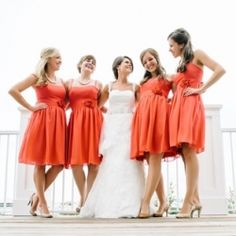 Modern coral and grey wedding at Carillon Beach in the panhandle, with gorgeous bridesmaids, stunning cake and the loveliest beach portraits