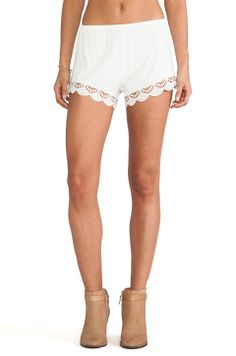 Jen's Pirate Booty Peek-A-Boo Cheeky Shorts in Ivory from REVOLVEclothing