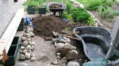 While you may not have to dig for a raised pond, you will need extra soil to fill in the gaps around the pond..