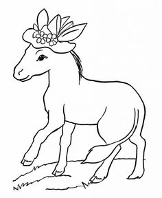coloring pages of donkeys