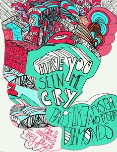 'Passion Pit- Ive got your number', art print by monasita  on artflakes.com