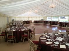 Burgundy theme - #marqueehireuk #marqueehire #Notts #Derby #Leicester #weddings #corporate #events
