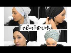 4 TURBAN TUTORIALS ◦ Hanna MK - YouTube