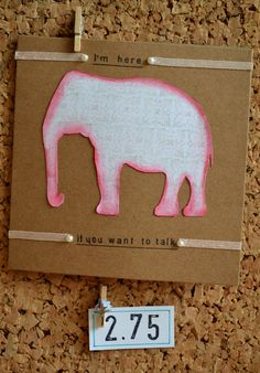 Handmade recycled card for wellbeing by ForgetMeNotGallery on Etsy #mental health #wellbeing #handmade #card #elephantintheroom