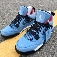 huge discount db8ae 3aeca Travis Scott x Air Jordan 4 Cactus Jack Houston Oilers 308497-406 Cactus  Jack,