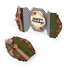 Sizzix Thinlits Die Set 6PK - Card, Happy Holidays Fold-a-Long $19.99