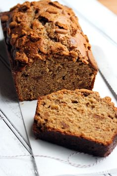 Biscoff Crunch Banana Bread » Table for Two    Anything with Biscoff in it has to be good, right? ;)