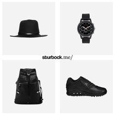 Black Attitude: Hut von Bugatti, Armbanduhr von Triwa, Tasche von Stighlorgan und Nike all Black Air Max. Hier entdecken und shoppen: http://sturbock.me/6nI