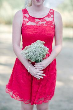 simple baby's breath bridesmaid bouquet #weddingbouquet #babysbreath #bridesmaids http://www.weddingchicks.com/2013/11/08/handcrafted-wedding/