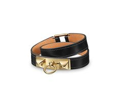 Leather Jewelry Hermès Black - Bracelets - Jewelry & Watches | Hermès, Official Website
