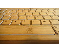 Bamboo keyboard: it's not just for floors! We love how this delicate material translates to a variety of cool products. #bambootyping