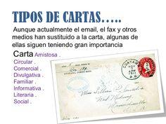 TIPOS DE CARTAS…..Aunque actualmente el email, el fax y otrosmedios han sustituido a la carta, algunas deellas siguen teniendo gran importanciaCarta Amistosa .…
