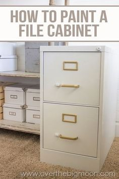 Best Diy Crafts Ideas For Your Home : How to Paint a File Cabinet!  Help make file cabinets not such an eye soar by gi
