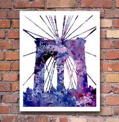 I Love This!!  Brooklyn Bridge Art Print Abstract Watercolor New by 1GalleryAbove, $12.50