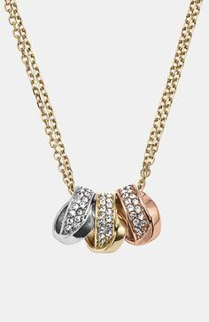 Michael Kors 'Statement Brilliance' 3-Ring Necklace