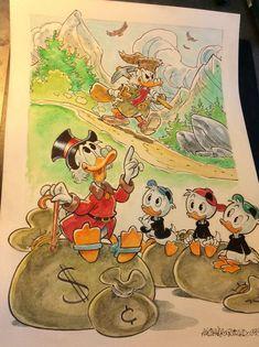 "Donald Duck - ""Racconti dal glorioso passato"" - Pagina - Catawiki Illustrations And Posters, Donald Duck, Painting, Fictional Characters, Art, Art Background, Illustrations Posters, Painting Art, Kunst"