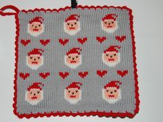 Christmas Charts, Christmas Feeling, Fair Isle Knitting, May Flowers, Pot Holders, Knitted Hats, Diy And Crafts, Christmas Decorations, Presents
