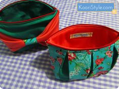 For more info and images of these pouches please click the picture ♥ #KooriStyle #Zippered #Pleated #Bow #Floral #Pouch #Handmade