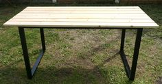 Garden table DIY wood & industrial