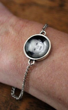 Valentine's Day Gifts for Mom, Dad, & the Grandparents:  Custom Photo Bracelet by Jersey Maids @ Etsy