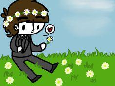 George Picking Flowers by ChazzyLlama.deviantart.com on @DeviantArt