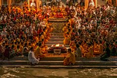 worshipers of Rishikesh Unity In Diversity, Cultural Diversity, Rishikesh, Haridwar, Religious Images, Color Palate, Incredible India, Location History, Beautiful Places
