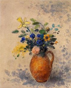 Vase of Flowers - Odilon Redon