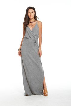 Triblend Jersey Strappy Maxi Dress