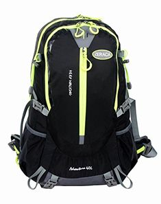 Zeraca 40L Hiking Camping Trekking Mountaineering Backpack Black *** Check out the image by visiting the link.