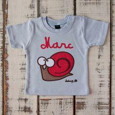Camiseta bebé manga corta caracol con tu nombre - Marketplace social de tiendas para niños de 0 a 14 años