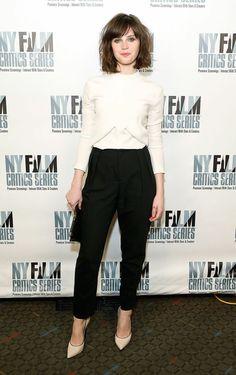 "Felicity Jones in Balenciaga - ""Breathe In"" New York Film Critics Series Screening - Balenciaga"