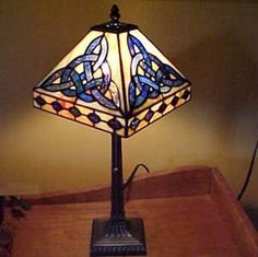 "Celtic Tiffany Lamp. Chain pull switch. 18"". $135 celticrevival.com"
