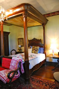 Southern Mansions, Southern Plantations, Victorian Bed, Victorian Furniture,