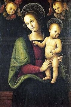 Pietro Perugino (Italian painter, 1446–1524), Madonna and Child & Cherubs