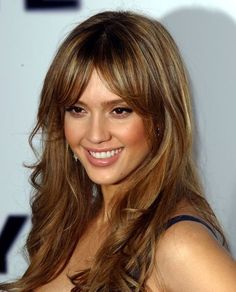 Jessica Alba - beautiful light-brown-hair-with-caramel-highlights - great color