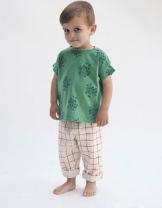 Bobo Choses - Groen Baby T-shirt 1968 all-over print