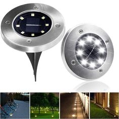 lawn Ideas Solar Lights - Details about 8 LED Solar Powered Ground Light Waterproof Garden Pathway Lawn lamp Deck Lights