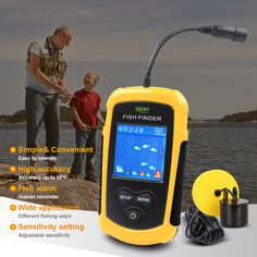 Hot Sale Alarm 100M Portable Sonar LCD ice Fish Finders Fishing lure Echo Sounder Fishing Finder fish finder camera FFC1108-1