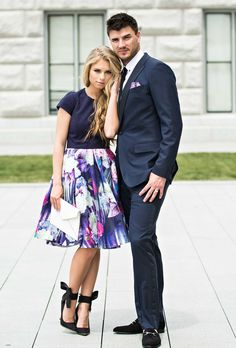 jessakae. couples fashion. mens fashion. floral. women fashion. street style. fashion blogger. gold and bow heels. ted baker.