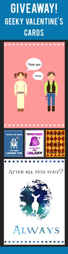 Brace yourself, Valentine's Day is coming! And since it's in few days, I've decided to share with you a little giveaway! I'm giving you seven adorable Valentine's cards so you can show your feelings in a geeky and cute way ;) I made them in three themes - Harry Potter, Star Wars and Game of Thrones, so whichever fandom you belong to, you'll find something that you like!