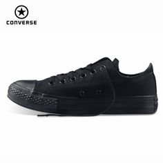 Original Converse all star men's sneakers for men canvas shoes all black low classic Skateboarding Shoes
