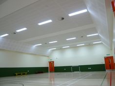 School Gym, Lighting by John (pre Cityzen) Gym Lighting, Light Project, Basketball Court, School, Projects, Tile Projects