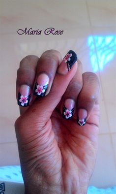 V tip French wedding nail art...